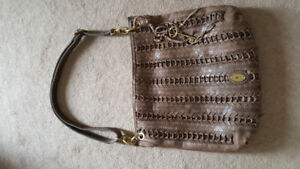 Fossil Lola woven leather bag