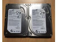 """SATA 2x 500gb 3.5"""" hard drives in very good condition formatted £25"""
