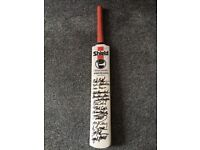 Authentic signed cricket bat