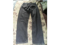 Vintage ladies Levi Strauss 818 black jeans.
