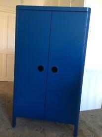 Blue IKEA kids wardrobe