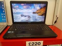 Toshiba Laptop with fast Core™ i3 2.5GHz Processor, 3GB Ram, 320GB HDD, Intel HD Graphics, MS Office