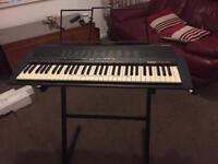 Yamaha PSR-18 electronic keyboard with stand