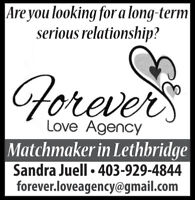 Looking for a serious long-term relationship ?