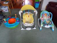 Summer Super Seat 3 in 1, Chicco Polly Swing, Fisher - Price Rainforest Infant to Toddler Rocker