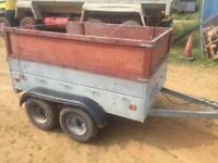 Twin Axle Caddy Galvanised Trailer + spare wheel