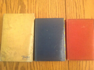 Three Vintage Hardcover Books