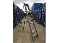 Vintage Artist studio large Aluminium Ladder Warehouse Industrial display