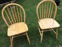 2 wooden chairs (free)