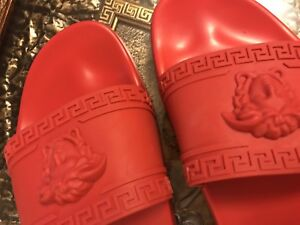 Versace Slippers in Red Brand New