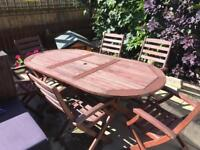 Garden Hardwood table and chairs