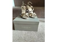 Carvella Wedding Sandals size 6 with matching bag
