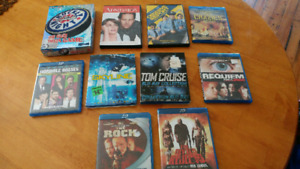 Collection of DVD's and Blu rays.