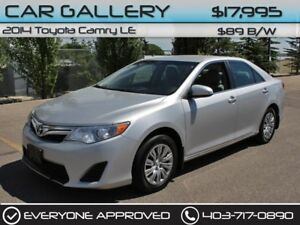 2014 Toyota Camry LE $89B/W YOU'RE APPROVED-QUICK  EASY FINANCIN