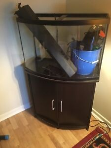 30 gallon fish tank and stand