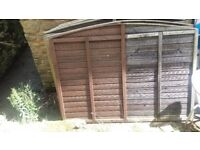 13 wood garden fences with gate and plastic posts needs staining collection only price £175