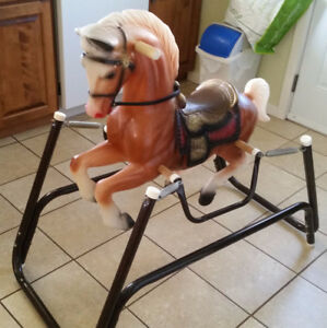 Rocking horse with springs