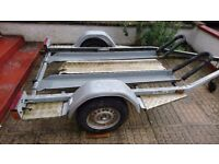 Brenderup two motorcycle bike trailer with 750kgs weight limit.