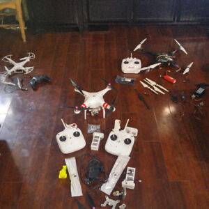 Phone, dji vision+, home made quad and more drones