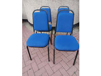 3 Fabric heavy duty stackable chairs (Delivery)