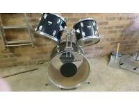 Drum kit. Three piece.