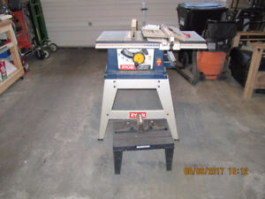 Table saw with stand and router table