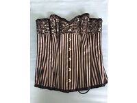 Black and silver boned basque, never worn