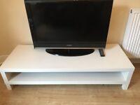 White ikea television/console unit