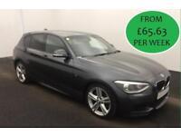 £282.20 PER MONTH - 2014 BMW 125 2.0TD M SPORT- 5 DOOR DIESEL MANUAL HIGH SPEC