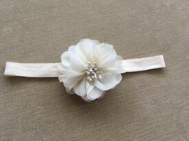 GORGEOUS BABY OCCASION IVORY HEADBAND; IDEAL FOR WEDDINGS/CHRISTENINGS