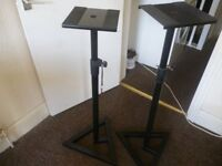 ADAM HALL SKDB 039 V2-B,Pair of heavy duty DJ speaker stands,used but in excellent condition