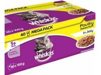 Whiskas cat food - box of 40 pouches
