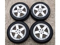 4 x Peugeot Alloy (5 stud) wheels with tyres (17 inch alloys)