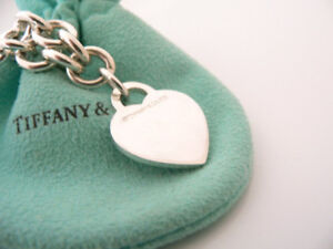 Tiffany's sterling silver heart pendant necklace and bracelet