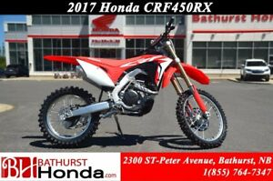 2017 Honda CRF450 RX Even more competitive than you are!