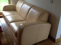 Anderson and england leather 3 seater sofa.
