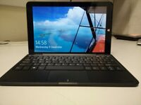 windows linx1010 pc/tablet with keyboard