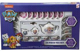 BRAND NEW Paw Patrol 30 piece Porcelain Tea set