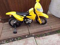 Yellow electric powered bike