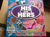 His & Hers Board Game BRAND NEW!!