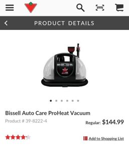 $150 Bissell Autocare Proheat Steamclean Vacuum only $90