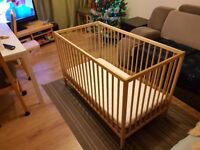 Baby bed including mattress.