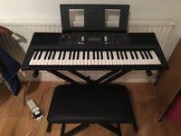 Gently Used Yamaha E343 61 Key Electric Keyboard for Sale