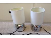 Two john Lewis touch operated bedside lamps with bulbs