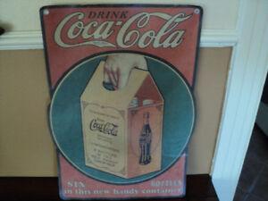belle pancart en carton coca cola anne 1930