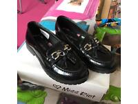 Girls size 1 school shoes
