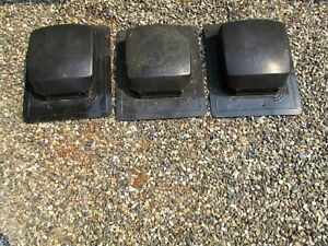 3 Used Roof Vents with screens inside.