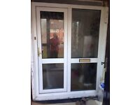 Upvc front door with side window