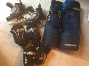 Bauer Supreme One.9 size 5cc plus pants, gloves