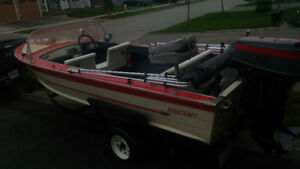 BOAT MOTOR AND TRAILER
